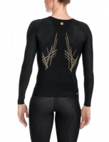 SKINS A400 Women's Top Long Sleeve black/gold B33156005 – Bild 2
