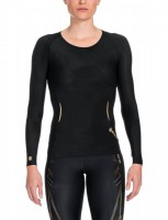 SKINS A400 Women's Top Long Sleeve black/gold B33156005 – Bild 1