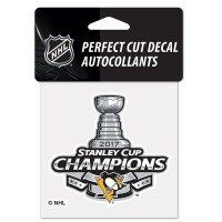 WinCraft 2017 Stanley Cup Champions Pittsburgh Penguins Perfect Cut Decal Autocollants – Bild 1